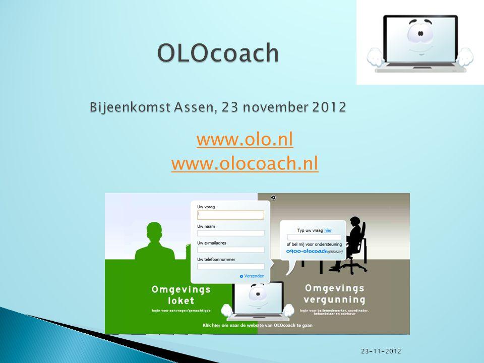 www.olo.nl www.olocoach.nl 23-11-2012