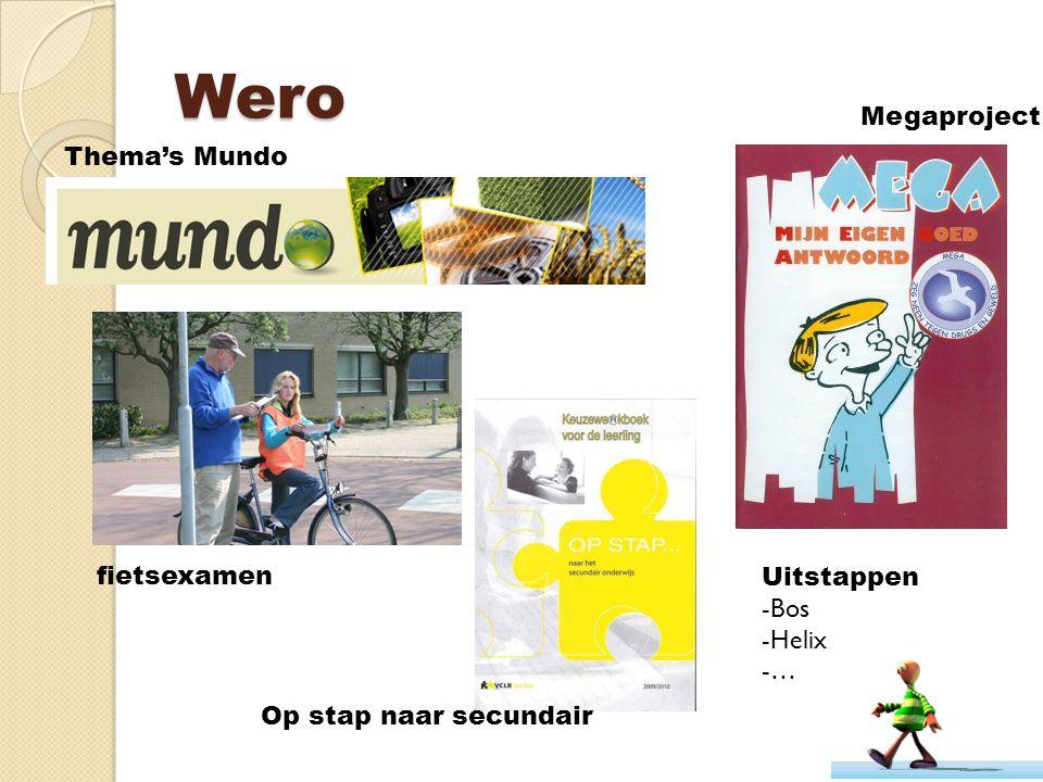 Wero fietsexamen Op stap naar secundair Thema's Mundo Megaproject Uitstappen -Bos -Helix -…