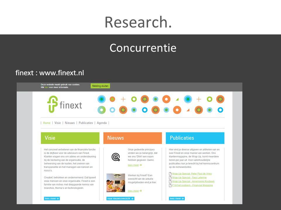 Research. Concurrentie VFM : www.vfmadvies.nl