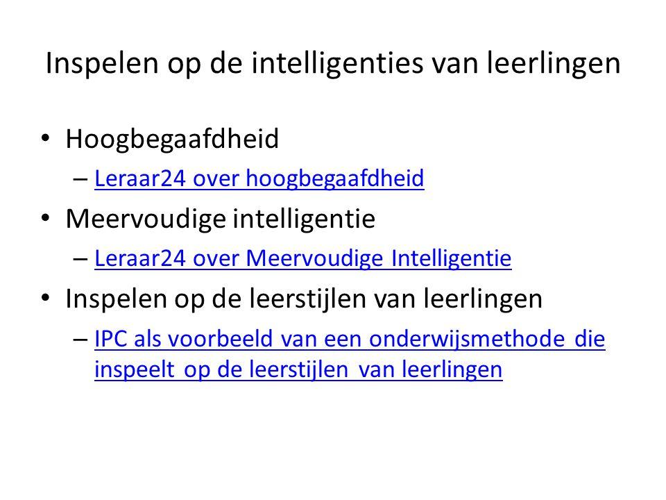 Inspelen op de intelligenties van leerlingen Hoogbegaafdheid – Leraar24 over hoogbegaafdheid Leraar24 over hoogbegaafdheid Meervoudige intelligentie –