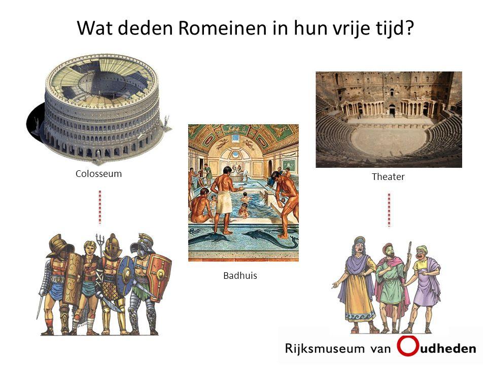 Wat deden Romeinen in hun vrije tijd? Colosseum Badhuis Theater