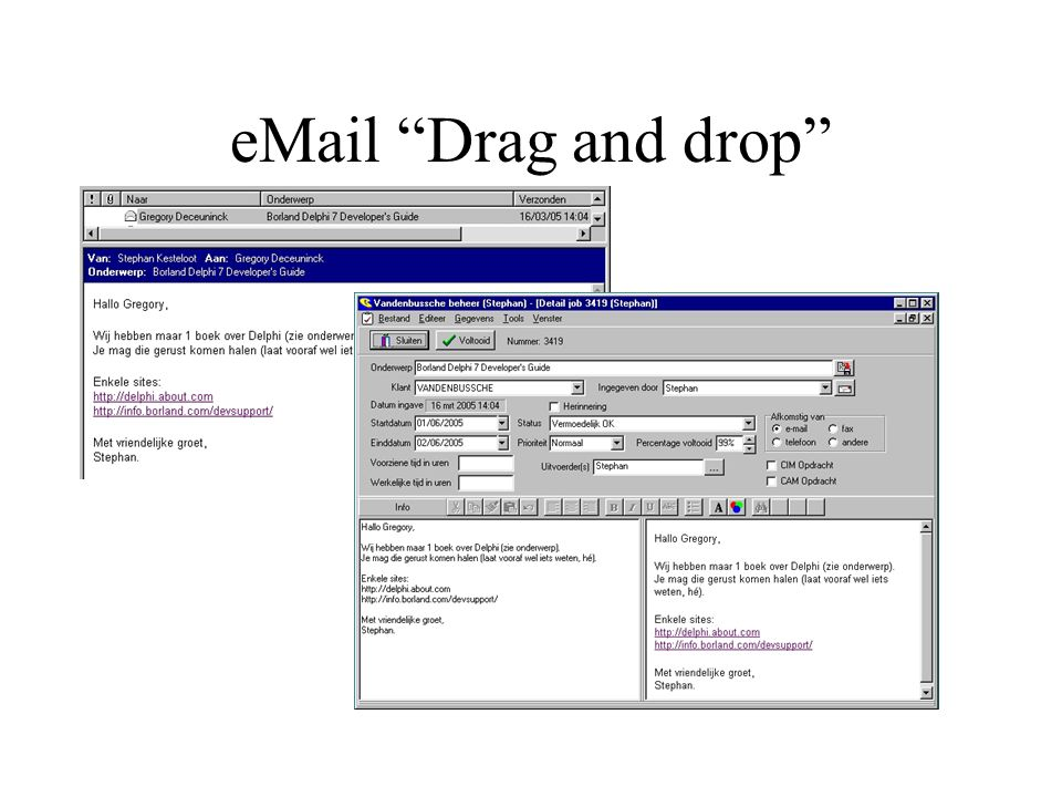 """eMail """"Drag and drop"""""""