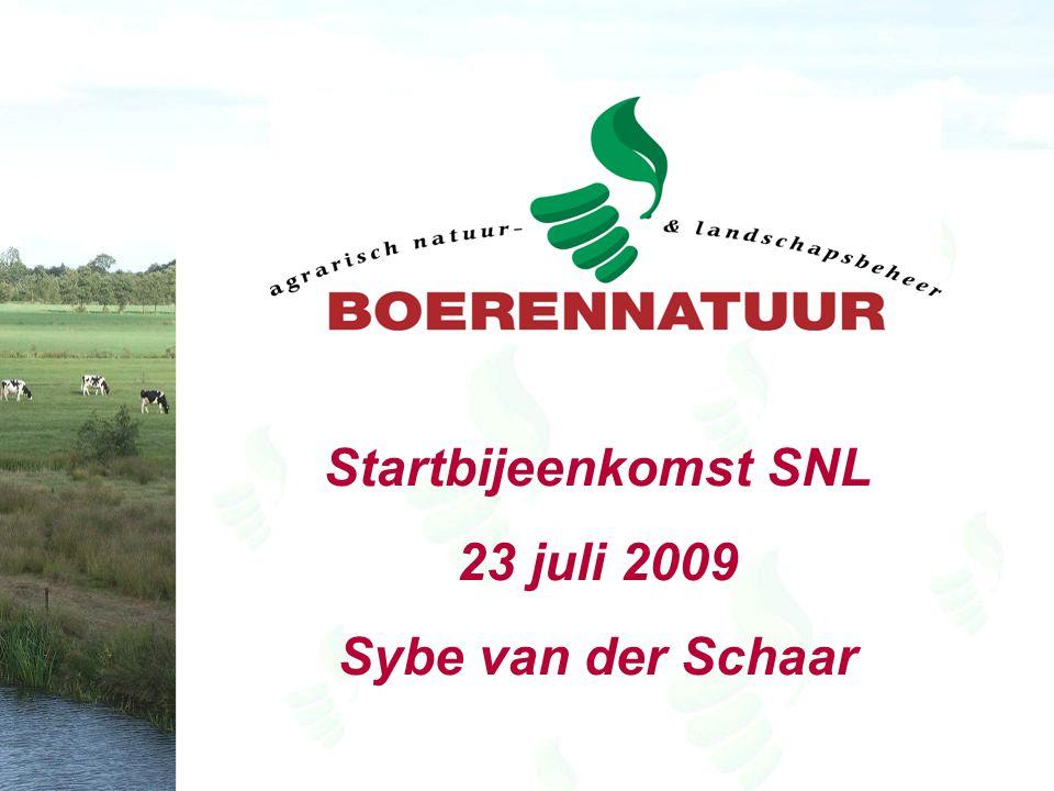 Startbijeenkomst SNL 23 juli 2009 Sybe van der Schaar