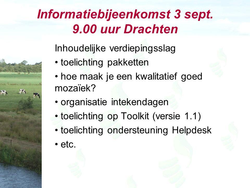 Informatiebijeenkomst 3 sept.