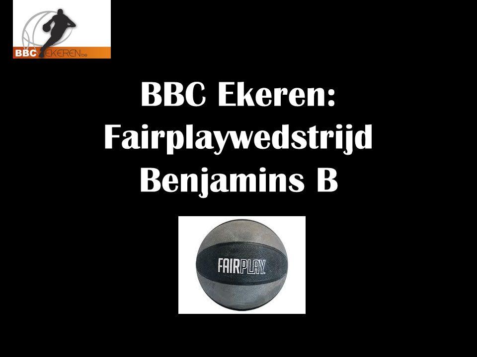 BBC Ekeren: Fairplaywedstrijd Benjamins B