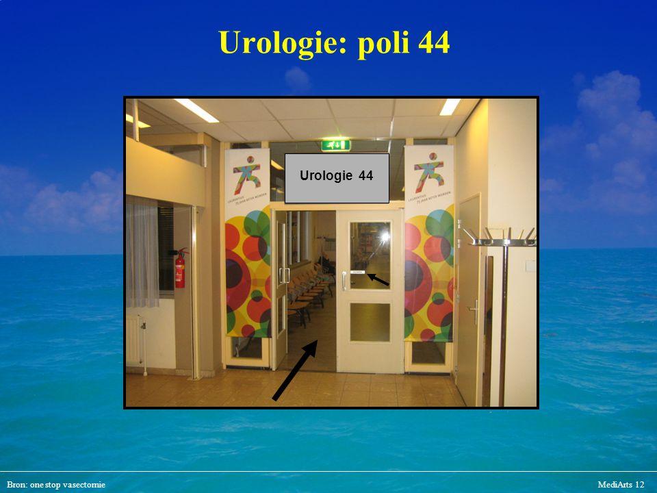 Bron: one stop vasectomieMediArts 12 Urologie: poli 44 Urologie 44