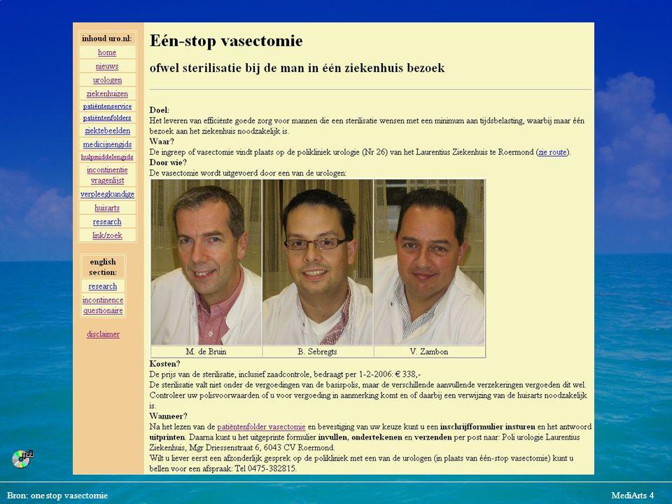 Bron: one stop vasectomieMediArts 4 urologen