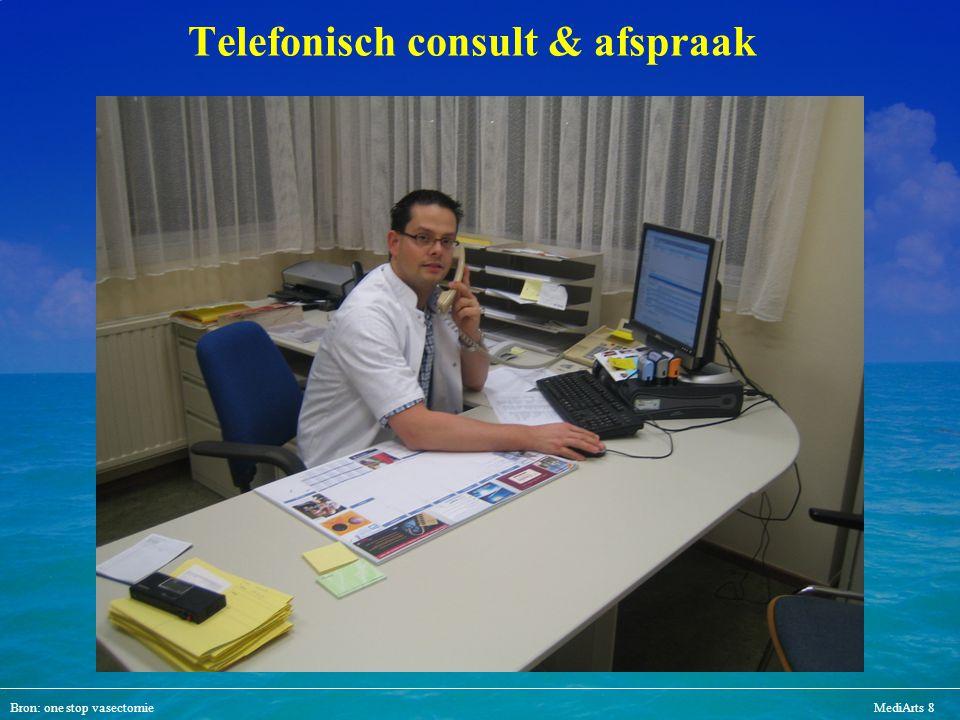 Bron: one stop vasectomieMediArts 8 Telefonisch consult & afspraak