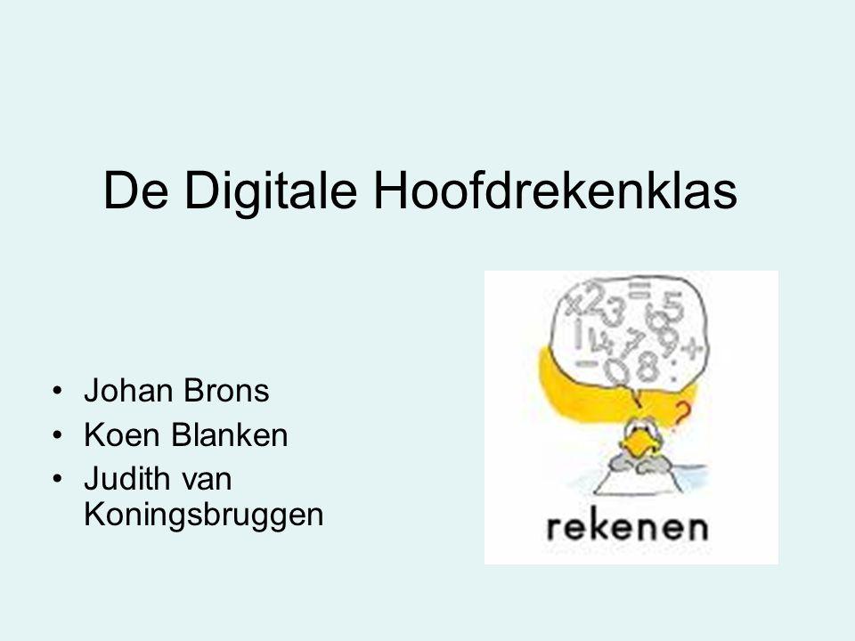 De Digitale Hoofdrekenklas Johan Brons Koen Blanken Judith van Koningsbruggen