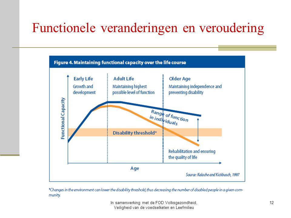 In samenwerking met de FOD Volksgezondheid, Veiligheid van de voedselketen en Leefmilieu 12 Functionele veranderingen en veroudering