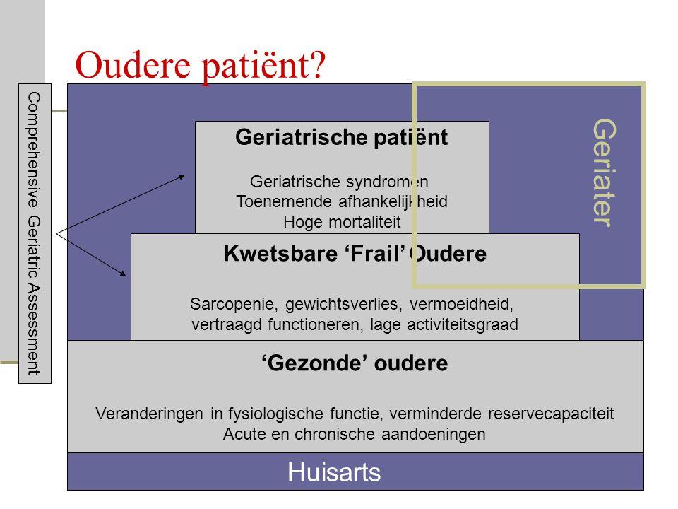 In samenwerking met de FOD Volksgezondheid, Veiligheid van de voedselketen en Leefmilieu 13 Oudere patiënt? 'Gezonde' oudere Veranderingen in fysiolog