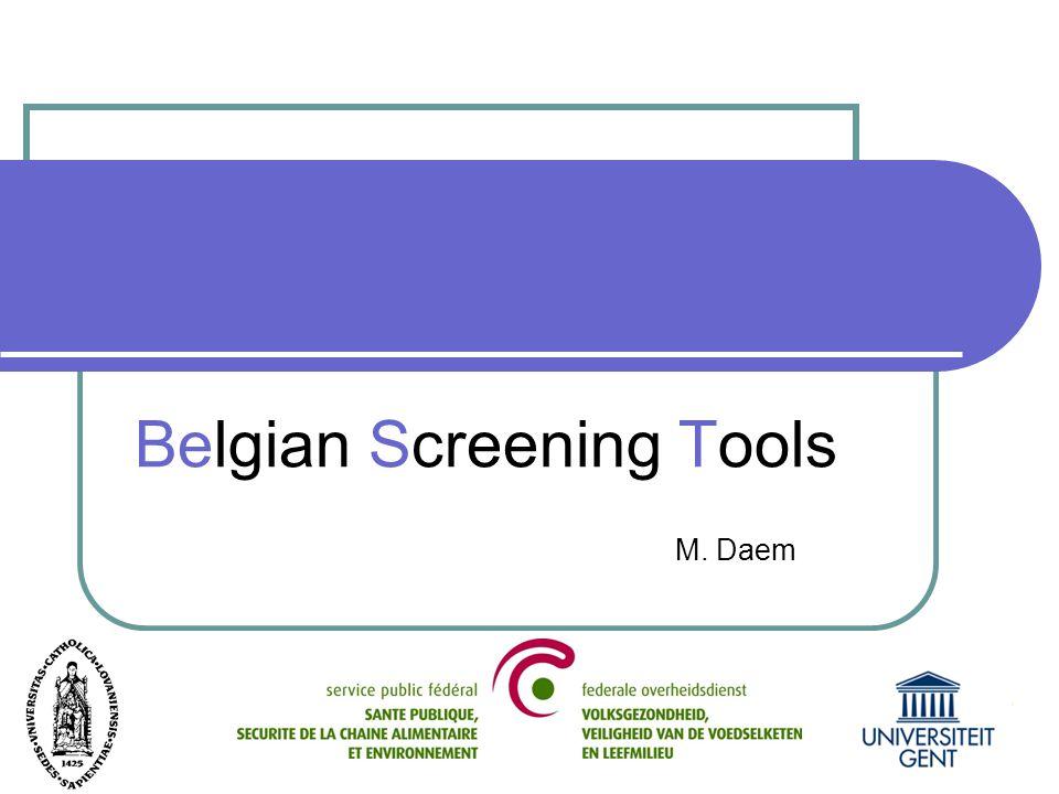 Belgian screening tools Daem, M., Piron, C., Lardennois, M., Gobert, M., Folens, B., Vanderwee, K., Grypdonck, M., & Defloor T.