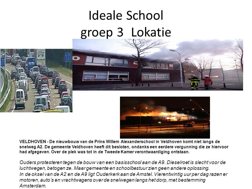 Ideale School groep 3Lokatie VELDHOVEN - De nieuwbouw van de Prins Willem Alexanderschool in Veldhoven komt niet langs de snelweg A2.