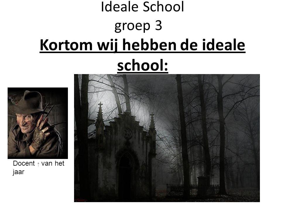 Ideale School groep 3 Kortom wij hebben de ideale school: Docent ↑ van het jaar