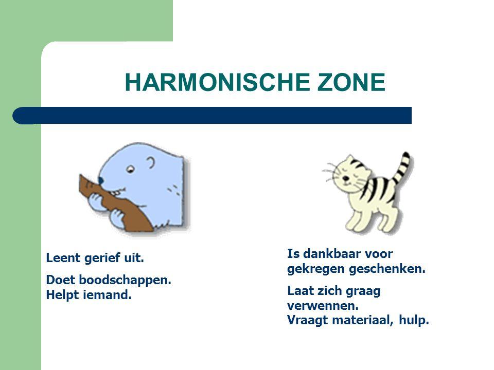 HARMONISCHE ZONE Leent gerief uit. Doet boodschappen.