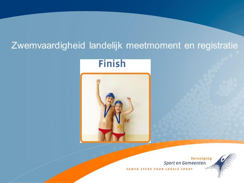 Zwemvaardigheid landelijk meetmoment en registratie
