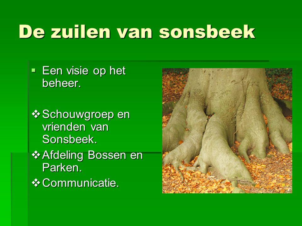 De zuilen van sonsbeek  Een visie op het beheer. Schouwgroep en vrienden van Sonsbeek.