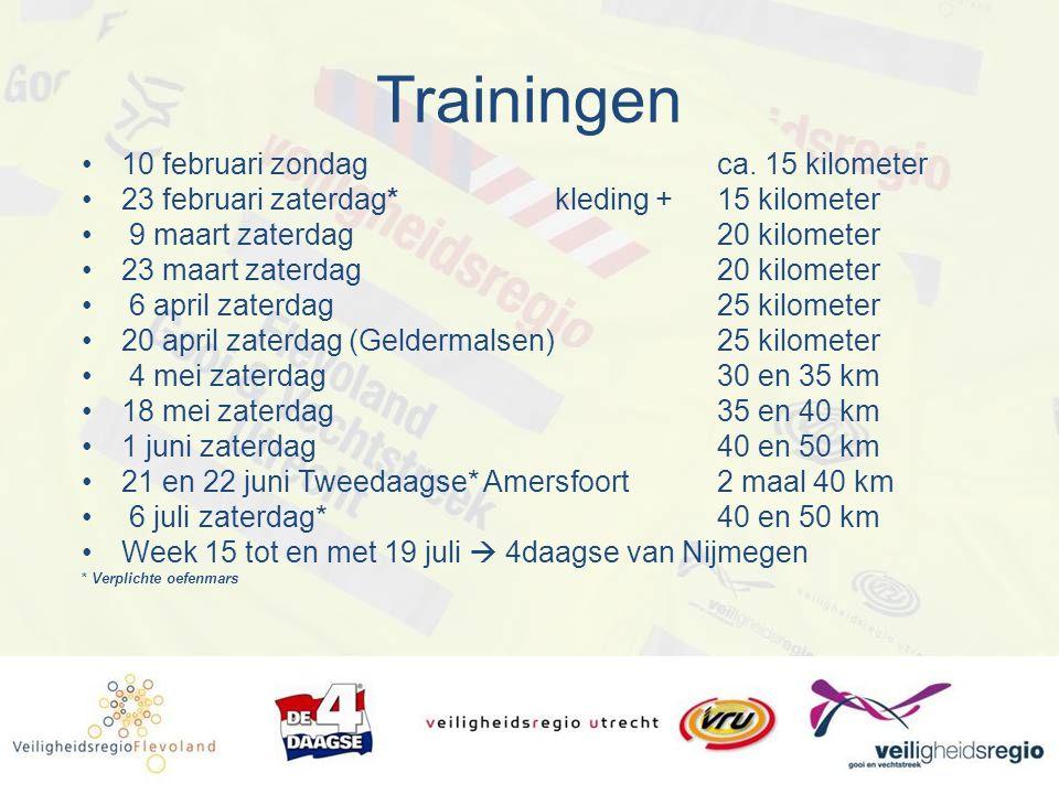 Trainingen 10 februari zondagca.