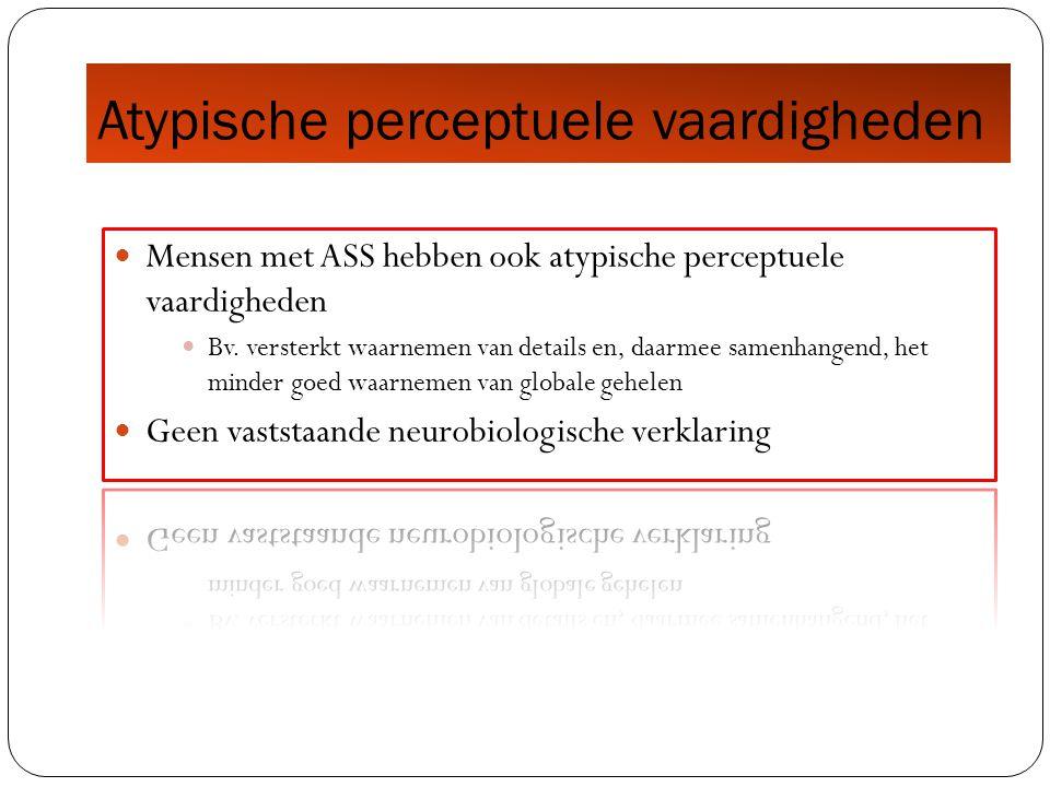 Atypische perceptuele vaardigheden