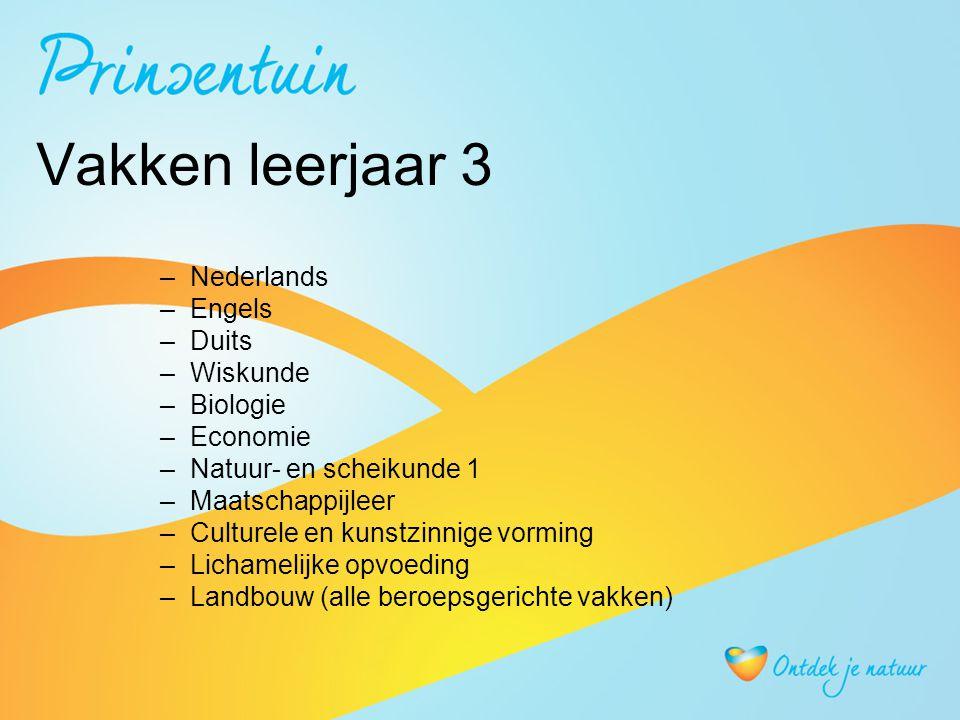 Vakken leerjaar 4 Met centraal eindexamen: - Nederlands- Engels - Wiskunde- Biologie - Duits(keuzevak in GL)- Nask 1 (keuzevak) - Beroepsgerichte vakken - Economie (keuzevak) Zonder centraal eindexamen (alleen schoolexamen): -Lichamelijke opvoeding > moet voldoende zijn -CKV > moet voldoende zijn - Maatschappijleer (wordt afgerond in klas 3 !!)