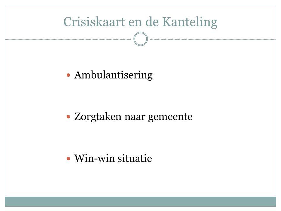 Crisiskaart en de Kanteling Ambulantisering Zorgtaken naar gemeente Win-win situatie