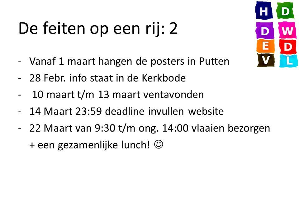 De feiten op een rij: 2 -Vanaf 1 maart hangen de posters in Putten -28 Febr.