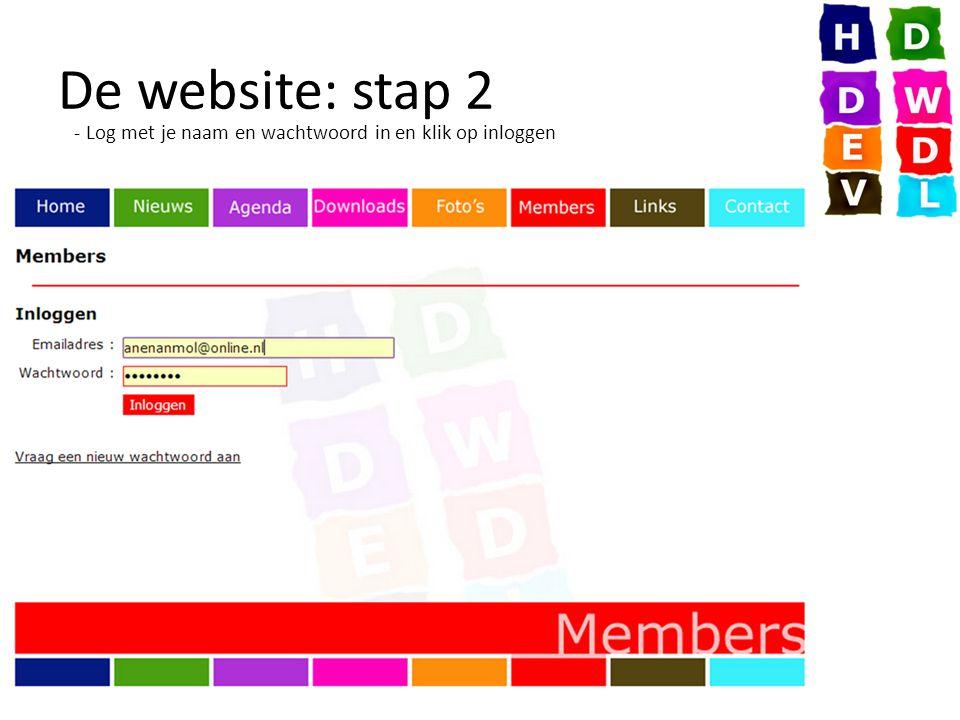 De website: stap 3 - Klik op Vlaaienactie