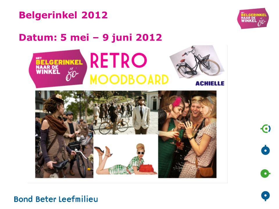 Belgerinkel 2012 Datum: 5 mei – 9 juni 2012