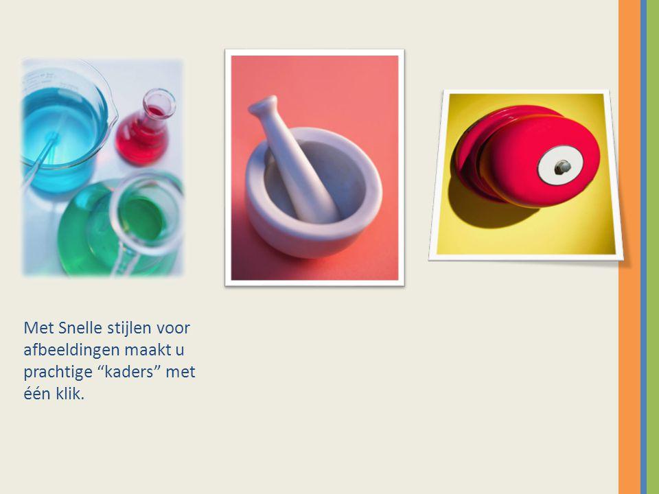 """Met Snelle stijlen voor afbeeldingen maakt u prachtige """"kaders"""" met één klik."""