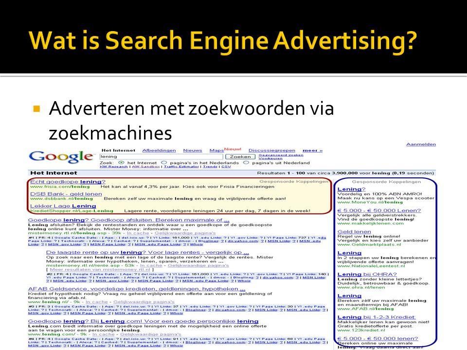  Adverteren met zoekwoorden via zoekmachines