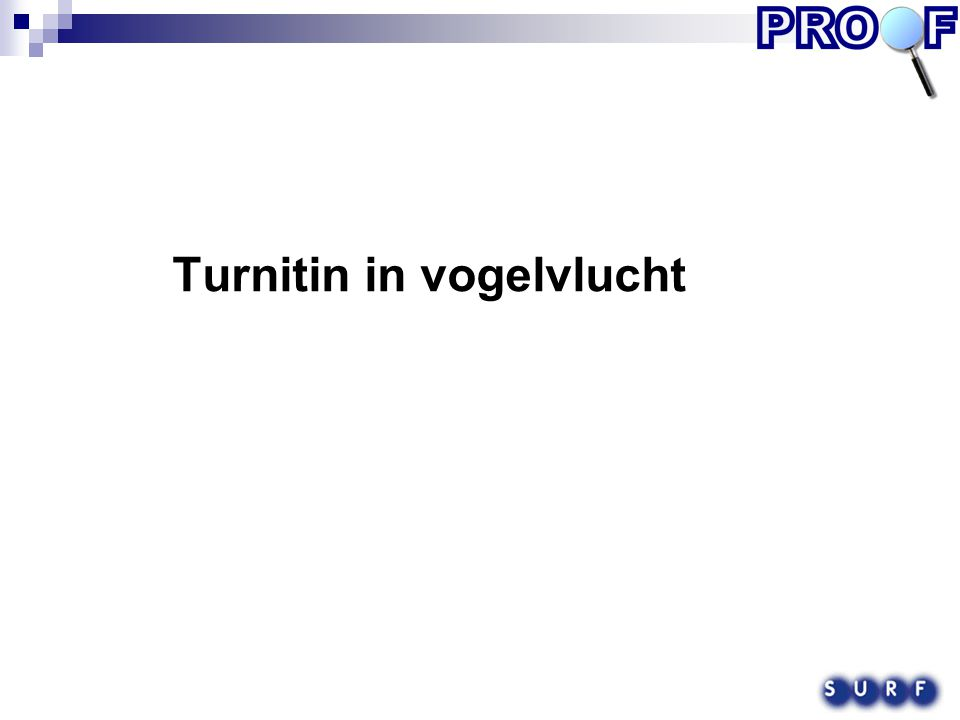 Turnitin in vogelvlucht
