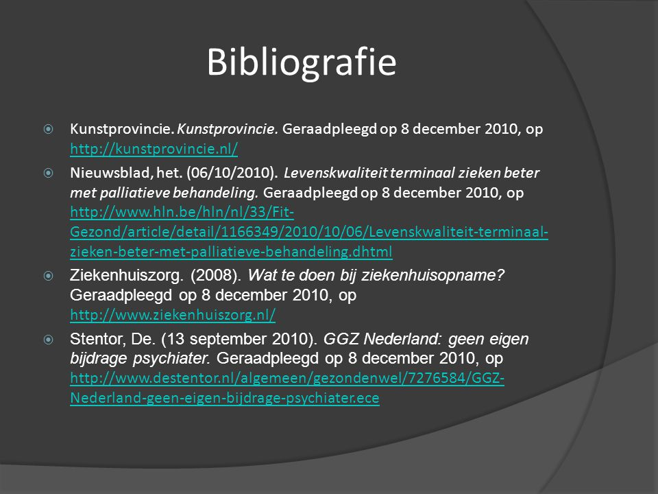 Bibliografie  Kunstprovincie.Kunstprovincie.