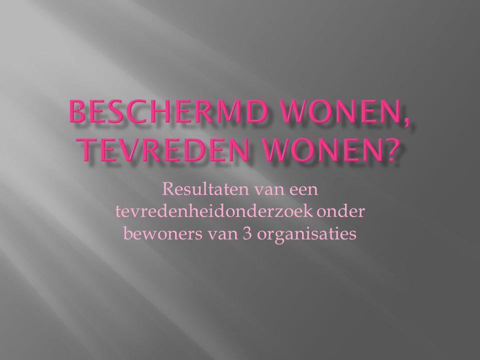  RIBW Midden- Brabant  RIBW Den Haag  De PameijerKeerkring Bron: Federatie Dienst Beschut Wonen.