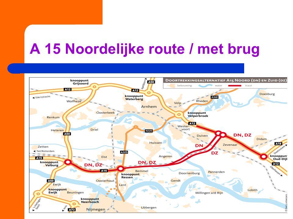 A 15 Noordelijke route / met brug