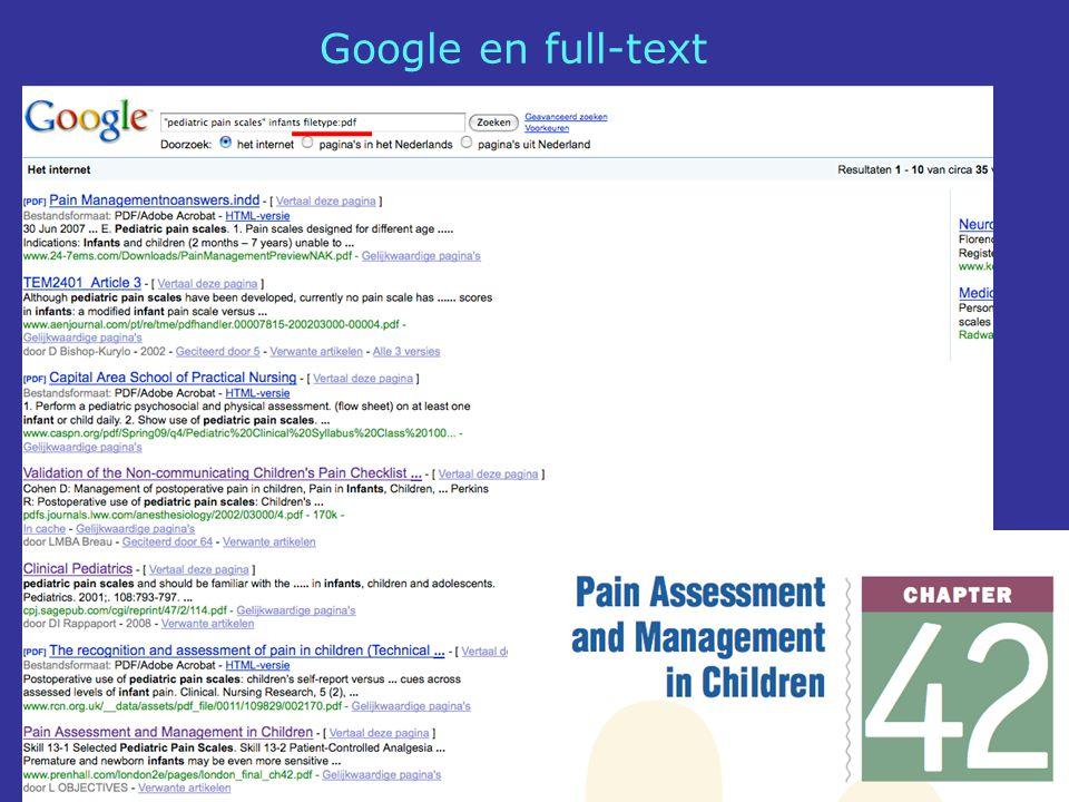 Google en full-text
