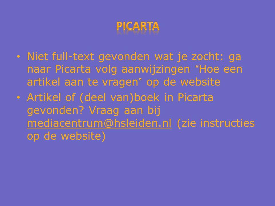 Niet full-text gevonden wat je zocht: ga naar Picarta volg aanwijzingen Hoe een artikel aan te vragen op de website Artikel of (deel van)boek in Picarta gevonden.