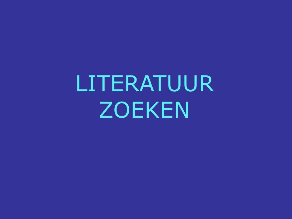 LITERATUUR ZOEKEN