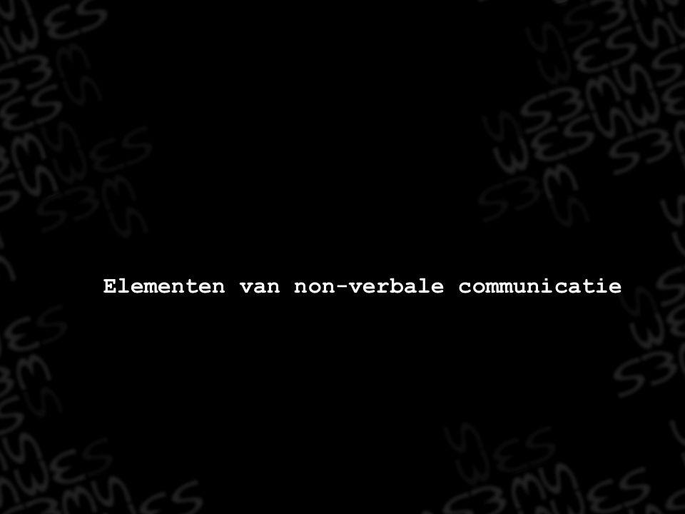 Elementen van non-verbale communicatie