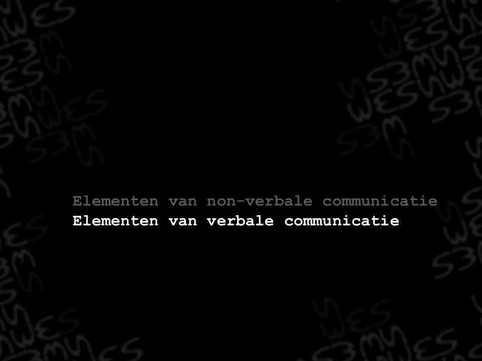 Elementen van verbale communicatie