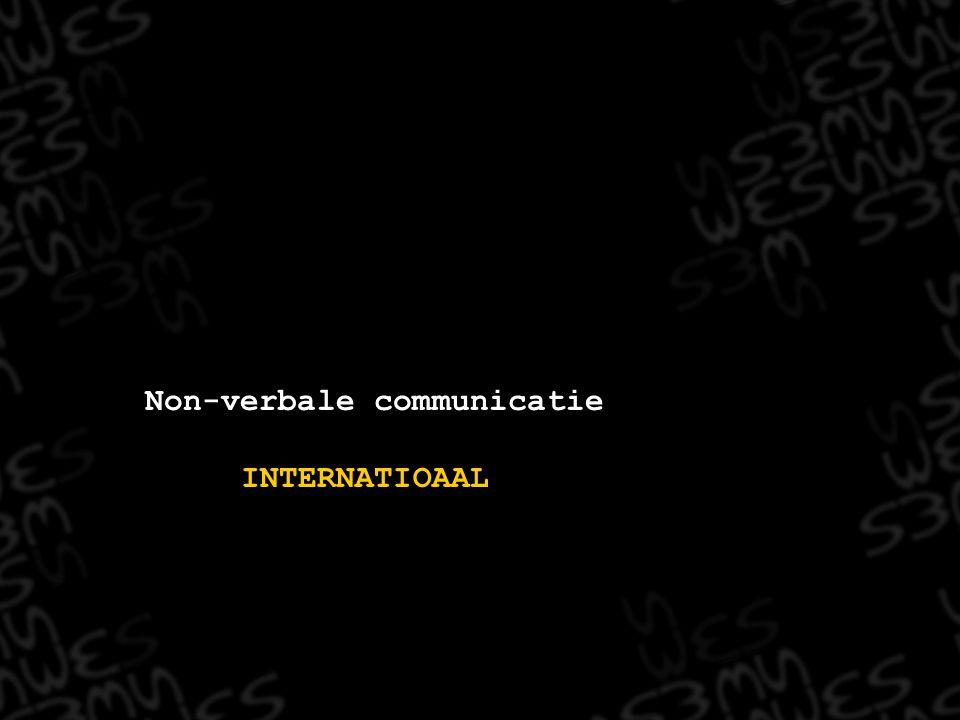 Non-verbale communicatie INTERNATIOAAL