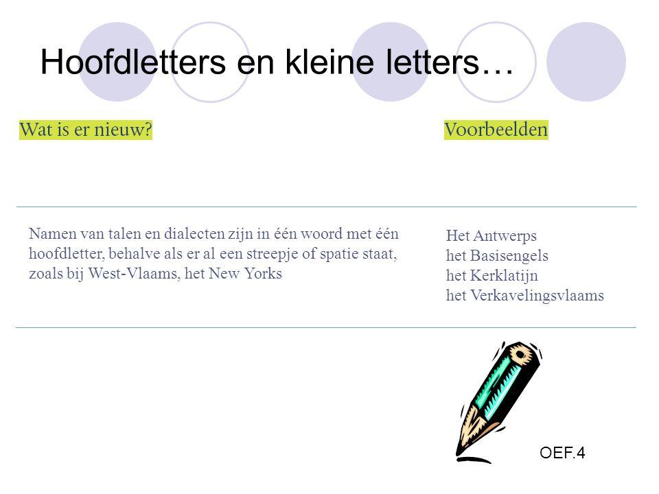 Namen van talen en dialecten zijn in één woord met één hoofdletter, behalve als er al een streepje of spatie staat, zoals bij West-Vlaams, het New Yor