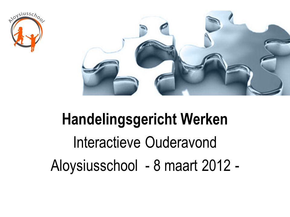 Handelingsgericht Werken Interactieve Ouderavond Aloysiusschool - 8 maart 2012 -
