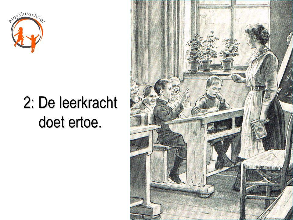 2: De leerkracht doet ertoe.