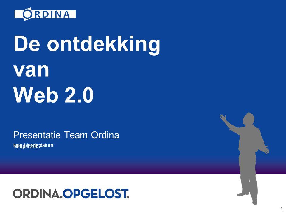 2 Programma Wat is Web 2.0.