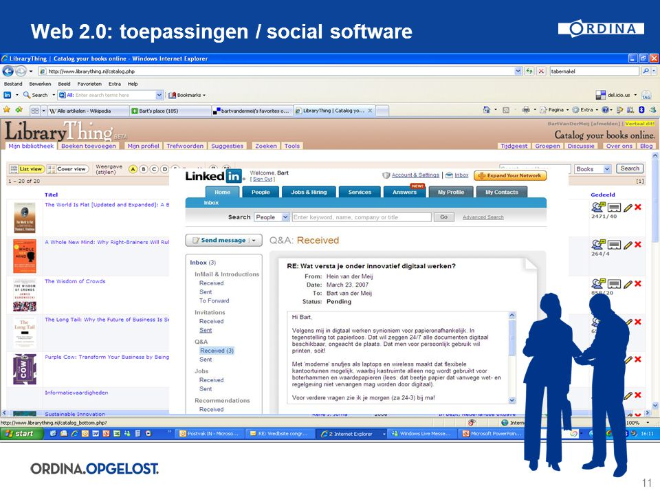 11 Web 2.0: toepassingen / social software