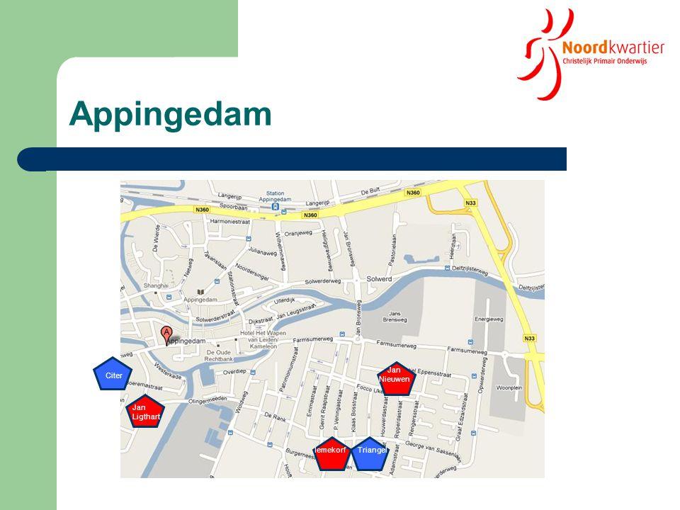 Leerlingenontwikkeling App'dam 2005 - 2010 2005 - 2010 Citer: - 32,5 % Triangel: - 16,3 % Totaal: -7,8% 2011 2011 Citer: - 3,8 % 179 Triangel: - 5,5 % 206 Totaal: 1,9 %