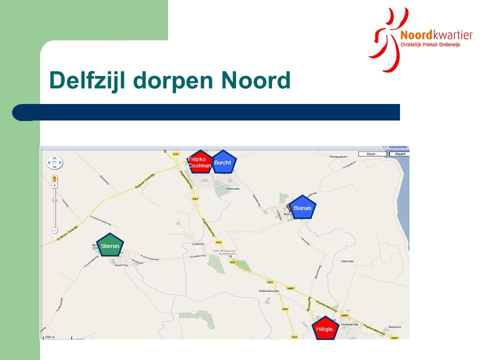 Leerlingenontwikkeling Dz - dorpen Noord 2005-2010 * 2011 2005-2010 * 2011 Bierum: 14,9 % * Bierum: 0 % 85 De Burcht: - 10,3 % * Burcht: - 1,9 % 104 Totaal: - 3,0 %* Totaal: 0 %