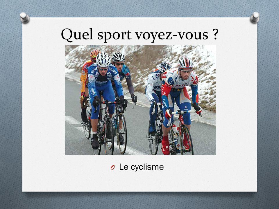 Quel sport voyez-vous ? O Le cyclisme