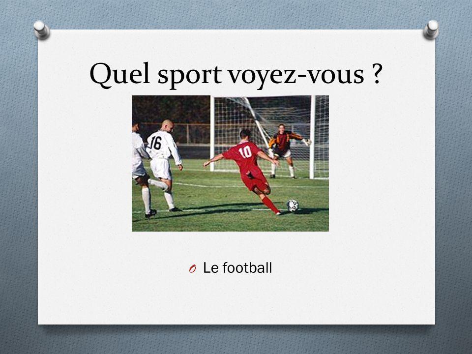 Quel sport voyez-vous ? O Le football