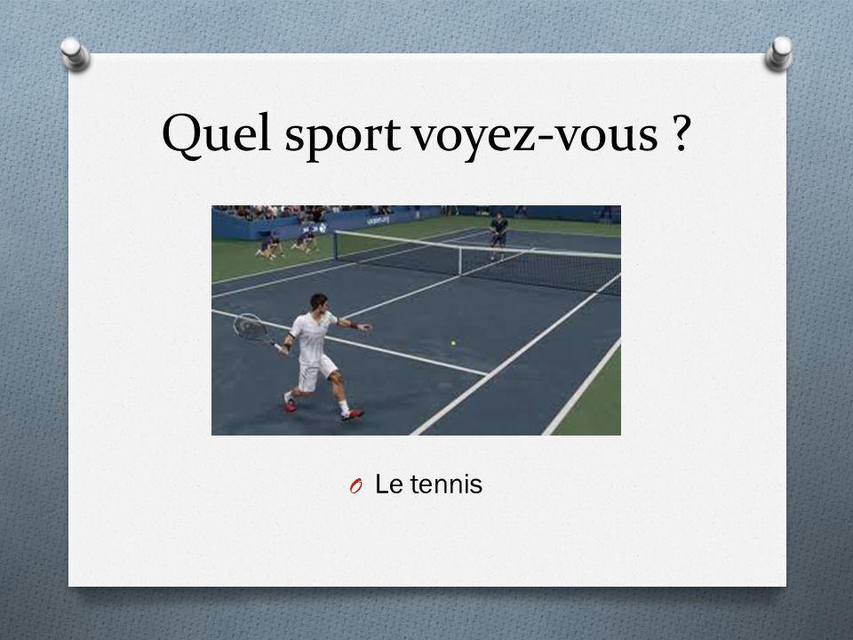 Quel sport voyez-vous ? O Le tennis